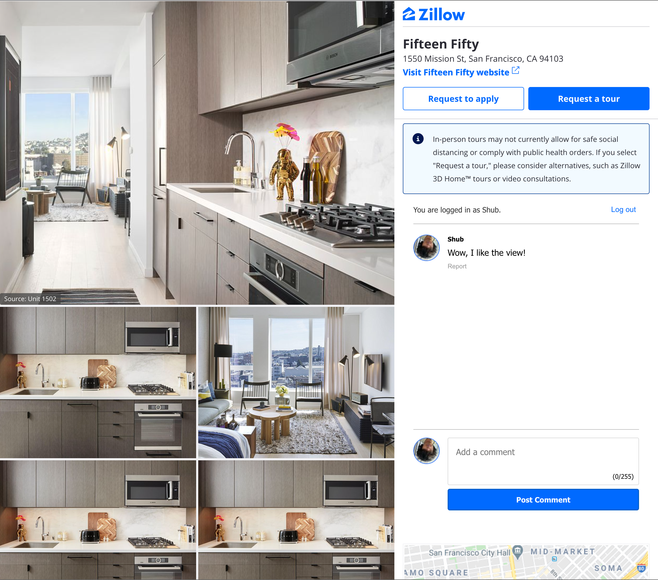 Zillow with a comment section